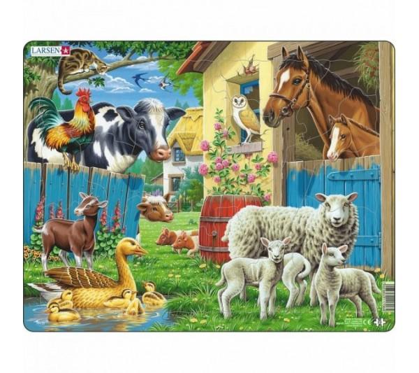 Puzzle Larsen - Zvieratá na farme