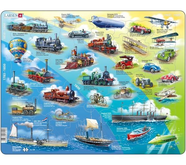 Puzzle Larsen - Historické dopravné prostriedky