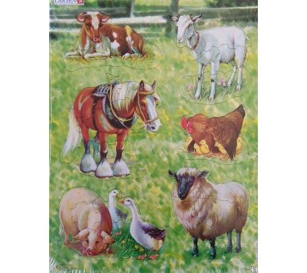 Puzzle Larsen - Zvieratá na farme 2