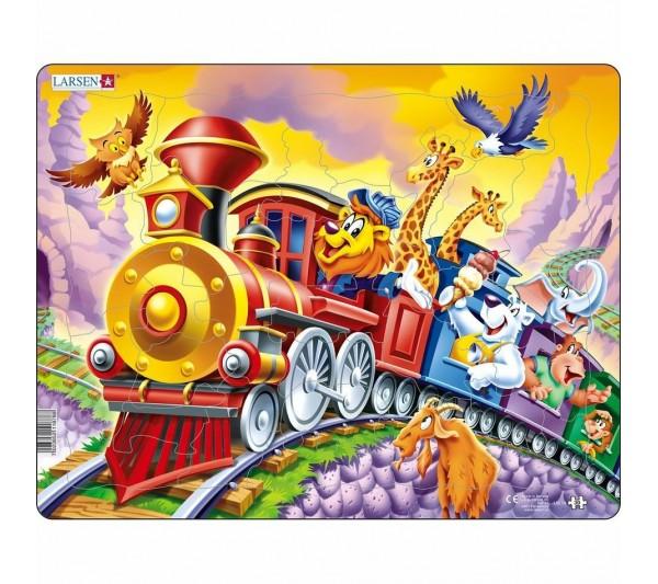 Puzzle Larsen - Zvieratká vo vlaku