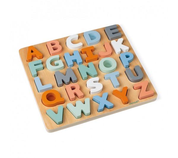Janod Sweet Cocoon vkladacie puzzle Abeceda 26 ks