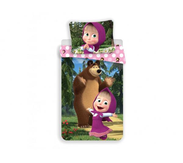 Máša a Medveď bavlnené obliečky